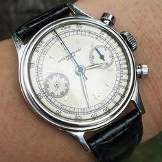 """e0bdd93de229 Alex Woodmansee on Instagram  """"Patek Philippe Stainless Steel Chronograph  Ref. 1463.  vinontre.  patekphilippe  vintagepatek  steelpatek  chronograph   1463…"""
