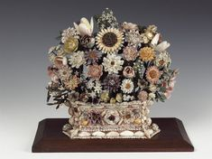 "Antique ""Shellwork Vase"". Made in 1660-1670. In a British Museum Collection."