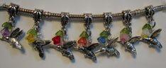 Hummingbird Humming Bird Jewelry Charm Bead by kabjewelrydesign, $11.99