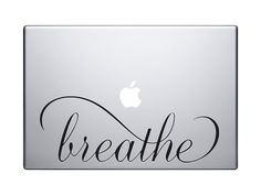 Breathe script Vinyl MacBook Decal, Vinyl Sticker, Vinyl Decal  Choose the width and color of sticker ! All decals are removable but not reusable. Picture is for reference only and may NOT accurately represent the actual size   Test decal and application instructions included.  Additional items in the same package ships for free.  Need another size or quantity? Convo me! ___________   NOTE : Im located in Europe. Shipping to the USA usually takes about 2 weeks ( 14 days) , Europe 1 week…