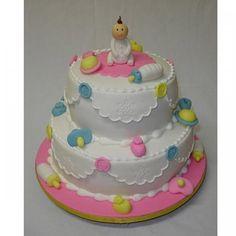 """le gâteau """"houppette de bébé"""""""
