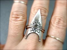 tiny dagger stack ring by sirenjewels on Etsy