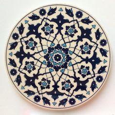 White and Blue Ceramic Trivet