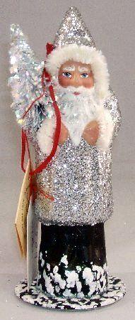 INO Schaller German Christmas Paper Mache Santa
