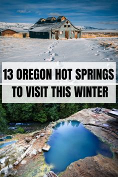 13 Oregon Hot Springs to Visit! Visit these Oregon hot Springs in winter or summer for a relaxing soak! Check this post out for Hot springs in Oregon, with a map and what to do nearby! Pin this to your Oregon board. Us Travel Destinations, Places To Travel, Coos Bay Oregon, Oregon Coast, Brookings Oregon, Usa Travel Guide, Travel Usa, Travel Tips, Multnomah Falls Oregon