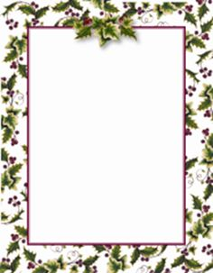 "free printable christmas borders | Geographics® Holly & Ivy Border Christmas Letterhead, 8.5""x11""- 25/PK"