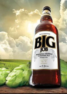 If a job's worth doing, it's worth overdoing. Big Job is a BIG beer, 7.2% alcohol, dry as a bone and jammed full of Cornish barley and as many Citra and Centennial hops as we could get our hands on. It's not subtle, but if you love the taste of big, powerful hops Big Job will be just the Job for you!