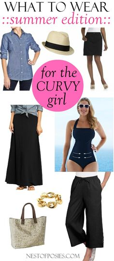 to wear with a curvy figure What to wear for a Curvy Figure - Classic and Thrifty finds for your Summer wardrobe.What to wear for a Curvy Figure - Classic and Thrifty finds for your Summer wardrobe. How To Have Style, My Style, Girl Style, Cool Outfits, Casual Outfits, Fashion Outfits, Curvy Girl Fashion, Plus Size Fashion, Spring Summer Fashion