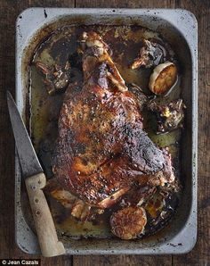 My favourite slow roast lamb recipe. Cooked till it collapses -perfect YUM!