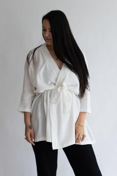 beiged Oversized Tee, Cotton Dresses, Gingham, Harem Pants, Bell Sleeve Top, White Dress, Pullover, Tees, Women
