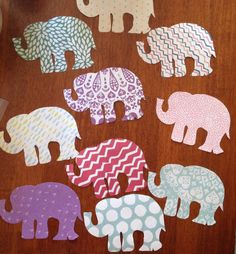 Simple elephant shaped door decorations on whatever paper you have available!