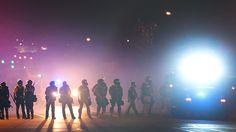 Police in Ferguson, Mo. take a trip down to crazy town, population: them.