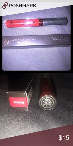"NEW••ANASTASIA LIQUID LIPSTICK IN ""SARAFINE"" New in box. AUTHENTIC ABH liquid lipstick in color ""SARAFINE"" Anastasia Beverly Hills Makeup Lipstick"