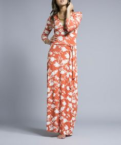 Look what I found on #zulily! Poppy Linear Floral Surplice Maxi Dress by Leota #zulilyfinds