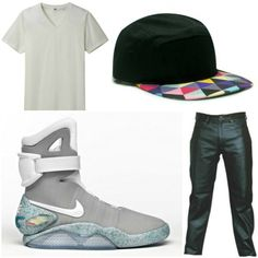If messy look is not your thing, then you must be a clean guy. If you guys prefer to have a simpler and much leaner outfit, just match this Air Mag with leather pants, a white shirt and a ca like what we have at Freshhatsupply.com and you'll surely look clean, casual and cool.