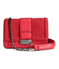 Tasche mit Velourslederdetails   Rot   Damen   H&M AT