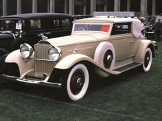 Cars 1930 Packard Convertible Coupe Tan Fvl 35mm Hershey PA 1970