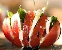 So great!! Tomato, Mozzarella and basil with a balsamic drizzle! Presentation