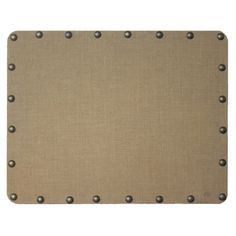 Burlap-covered corkboard with bronzed nailhead trim.     Product: CorkboardConstruction Material: Burlap, cork a...