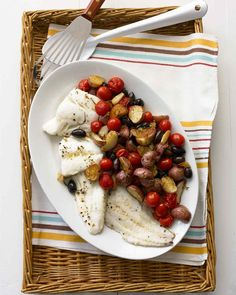 Roasted Cod with Pot