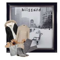 """""""Brrrr... It's cold outside!"""" by chalsouv ❤ liked on Polyvore featuring Topshop, AG Adriano Goldschmied, Isotoner, Maison Margiela, Gianvito Rossi, Billabong and blizzard"""