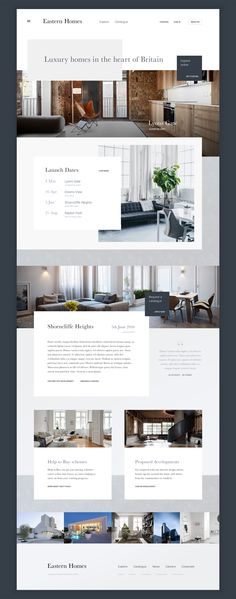 Luxury homes modern website template layout idea - Wix Website Ideas - DIY your own website with Wix. - Luxury homes modern website template layout idea Web Design Trends, Site Web Design, Hotel Website Design, Luxury Website, Design Ios, Modern Website, Web Design Tips, Flat Design, Creative Design