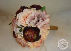 Hey, I found this really awesome Etsy listing at https://www.etsy.com/listing/202206397/silk-bride-bouquet-anemones-wine-roses