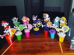 "17 Likes, 5 Comments - Creative Celebrations (@creativecelebrations1246) on Instagram: ""Paw patrol centerpieces! Perfect for your tables! Inquire for prices! #pawpatrolparty #centerpieces…"""