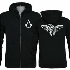 Assassin's Creed IV: Black Flag Edward Kenway Clothing Black Hoodie with Beak Jacket Costume for Adult XXXL Xcoser Assassins Creed Costume, Assassins Creed Black Flag, Hoodie Jacket, Nike Jacket, Assassin's Creed, Adult Costumes, Black Hoodie, Cool Outfits, Coats