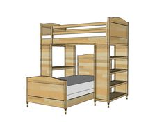 Loft Beds With Staircase And Drawers On The End I Would Add More Under Bottom Bunk Make Two Steps Into Storage By