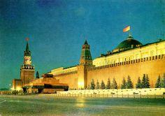 Moskou. Het Kremlin. Oude postkaart.