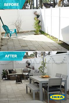 The IKEA Home Tour Squad gives this backyard the makeover it needs with plenty of seating - perfect for entertaining dinner guests at your next cookout.