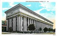 Albany New York NY 1922 State Education Building Collectible Vintage Postcard