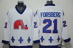Quebec Nordiques #21 Peter Forsberg White CCM Throwback Stitched NHL Jersey