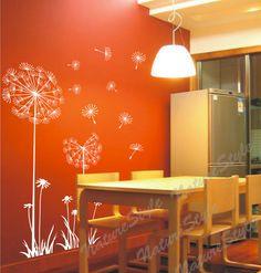 muur stickers muur sticker floral muur sticker-paardebloemen baby ...