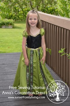 anna libre vestido de coronación tutorial