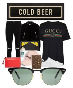 """""""beer"""" by hanii-omachiss ❤ liked on Polyvore featuring Ray-Ban, Helmut Lang, adidas Originals, Amici Accessories, Boohoo, T By Alexander Wang, Louis Vuitton, Fendi, Valentino and Spicher and Company"""