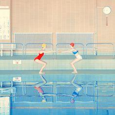 this isn't happiness™ (Everybody in the pool, Maria Svarbova), Peteski