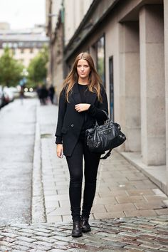 25 All-Black Fall Outfits That are Anything But Basic   StyleCaster