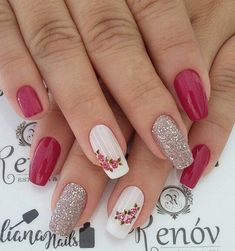 Best Nail Art Designs 2018 Every Girls Will Love These trendy Nails ideas would gain you amazing compliments. Check out our gallery for more ideas these are trendy this year. Rose Nails, Flower Nails, Stylish Nails, Trendy Nails, Bright Pink Nails, Bright Yellow, Best Nail Art Designs, Nail Decorations, Fabulous Nails