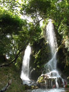 Cascade de Saut-d'Eau à Haïti.