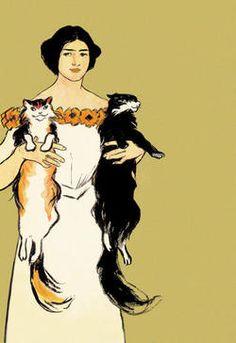 Springtime Felines by Edward Penfield (1866-1925), American - poster artist (70galeri)