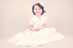 Orchid Holy Communion dress from Trumpets and Tiaras Communion Shoes, Holy Communion Dresses, Holi, Ballerina, Orchids, Tulle, White Dress, Ballet Skirt, Satin