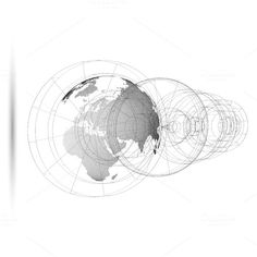3D dotted world globes on white by VectorShop on @creativemarket