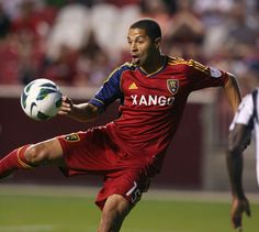 Real Salt Lake's Alvaro Saborio fires a shot on goal against Tauro FC on Aug. Real Salt Lake, Salt Lake City, Independent News Sources, Film Industry, Victorious, Goals, My Favorite Things