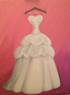 your wedding dress painted on canvas