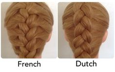Example of a French and a Dutch braid