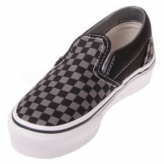e2a28b884f Find great prices on Vans Youth Classic Slip On Black True White Checker  Shoes and all styles of men