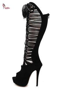 LFNLYX Chaussures Femme-Mariage / Habillé / Décontracté / Soirée & Evénement-Noir-Talon Aiguille-Talons / Confort / Nouveauté / Bottes à la Mode , black , us9 / eu40 / uk7 / cn41 - Chaussures lynxl (*Partner-Link)