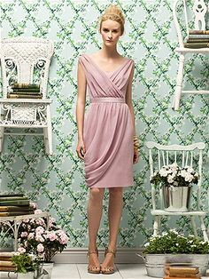 Lela Rose Style LR178 in Suede Rose #PatsysBridal #bridesmaid #wedding www.patsysbridal.com